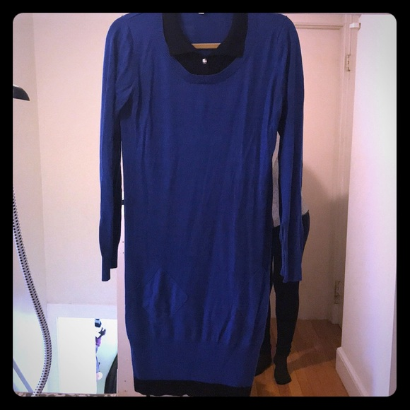 ffe237eb2ed78 Momo Maternity Dresses | L Blue Tunic Sweater Dress | Poshmark